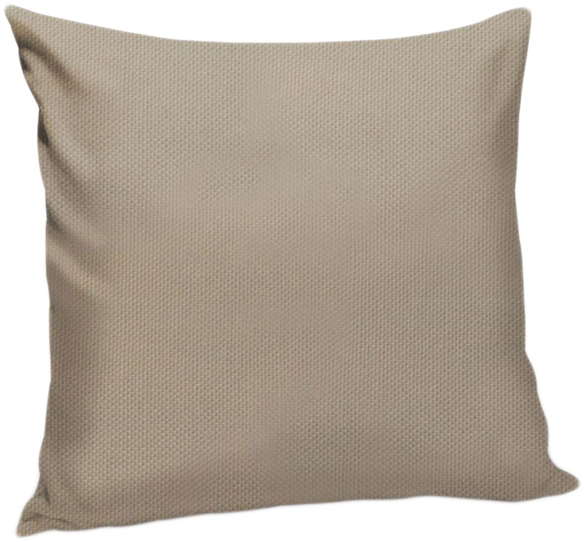 Подушка декоративная KauffOrt Комо, цвет: серо-бежевый, 40 x 40 см3121540160Декоративная подушка Комо прекрасно дополнит интерьер спальни или гостиной. Чехолподушки выполнен из лонеты. Внутри находится мягкий наполнитель. Чехол легко снимаетсяблагодаря потайной молнии.