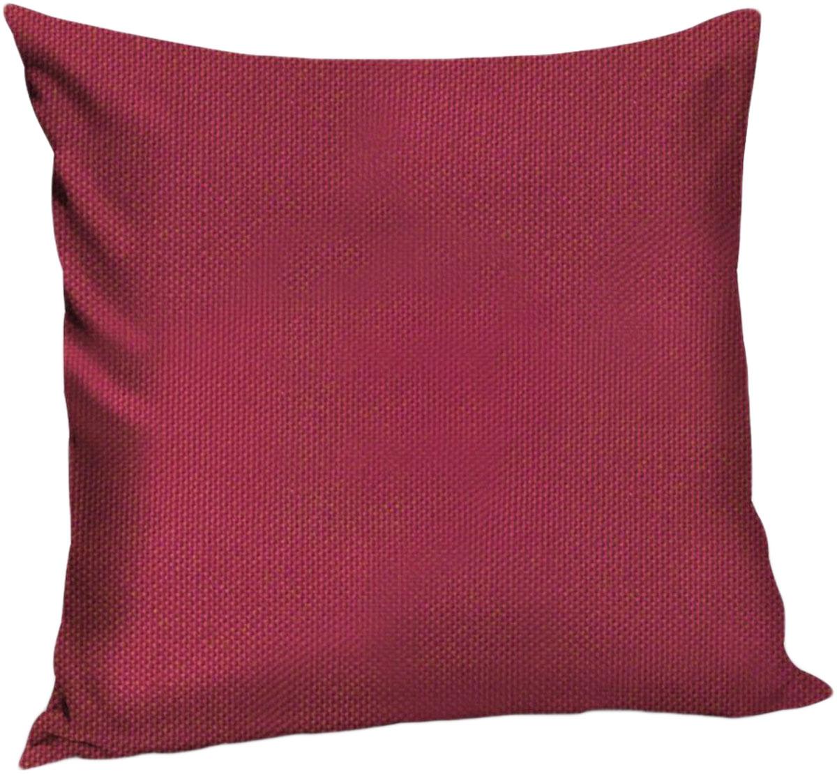 Подушка декоративная KauffOrt Комо, цвет: малиновый, 40 x 40 см3121540170Декоративная подушка Комо прекрасно дополнит интерьер спальни или гостиной. Чехолподушки выполнен из лонеты. Внутри находится мягкий наполнитель. Чехол легко снимаетсяблагодаря потайной молнии.