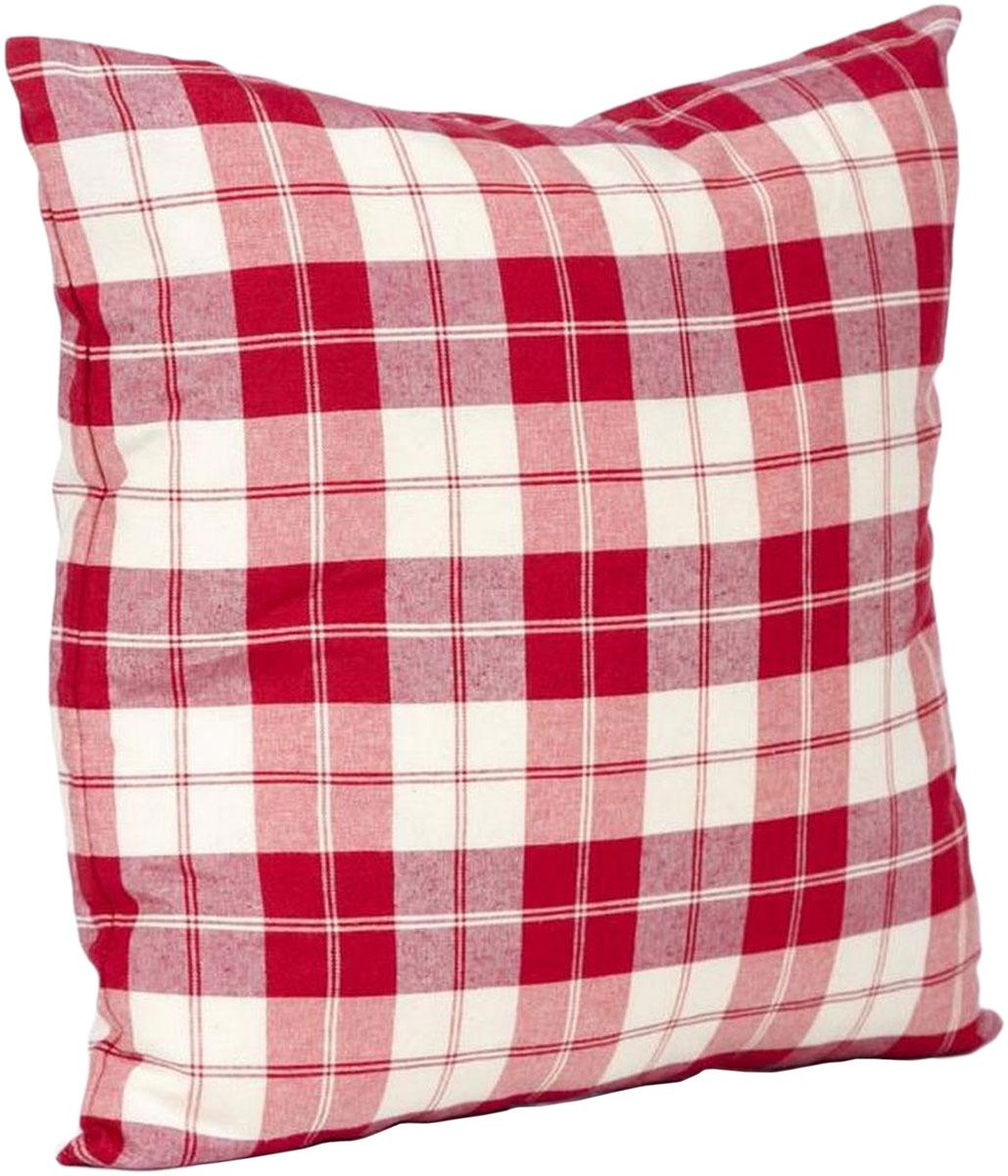 Подушка декоративная KauffOrt Коттедж, цвет: красный, 39 x 39 см штора легкая kauffort barolo