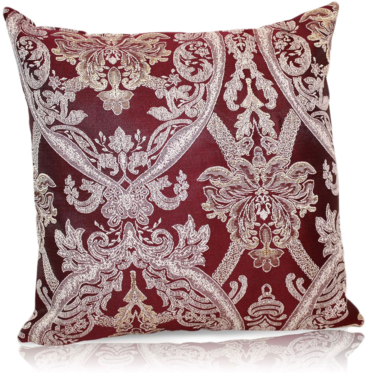 """Декоративная подушка """"Мауритани"""" прекрасно дополнит интерьер спальни или гостиной.  Чехол  подушки выполнен из жаккардовой ткани. Внутри находится мягкий наполнитель. Чехол  легко снимается  благодаря потайной молнии."""