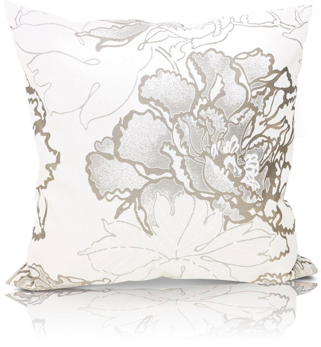 """Декоративная подушка """"Рапсодия"""" прекрасно дополнит интерьер спальни или гостиной.  Чехол  подушки выполнен из жаккардовой ткани. Внутри находится мягкий наполнитель. Чехол  легко снимается  благодаря потайной молнии."""
