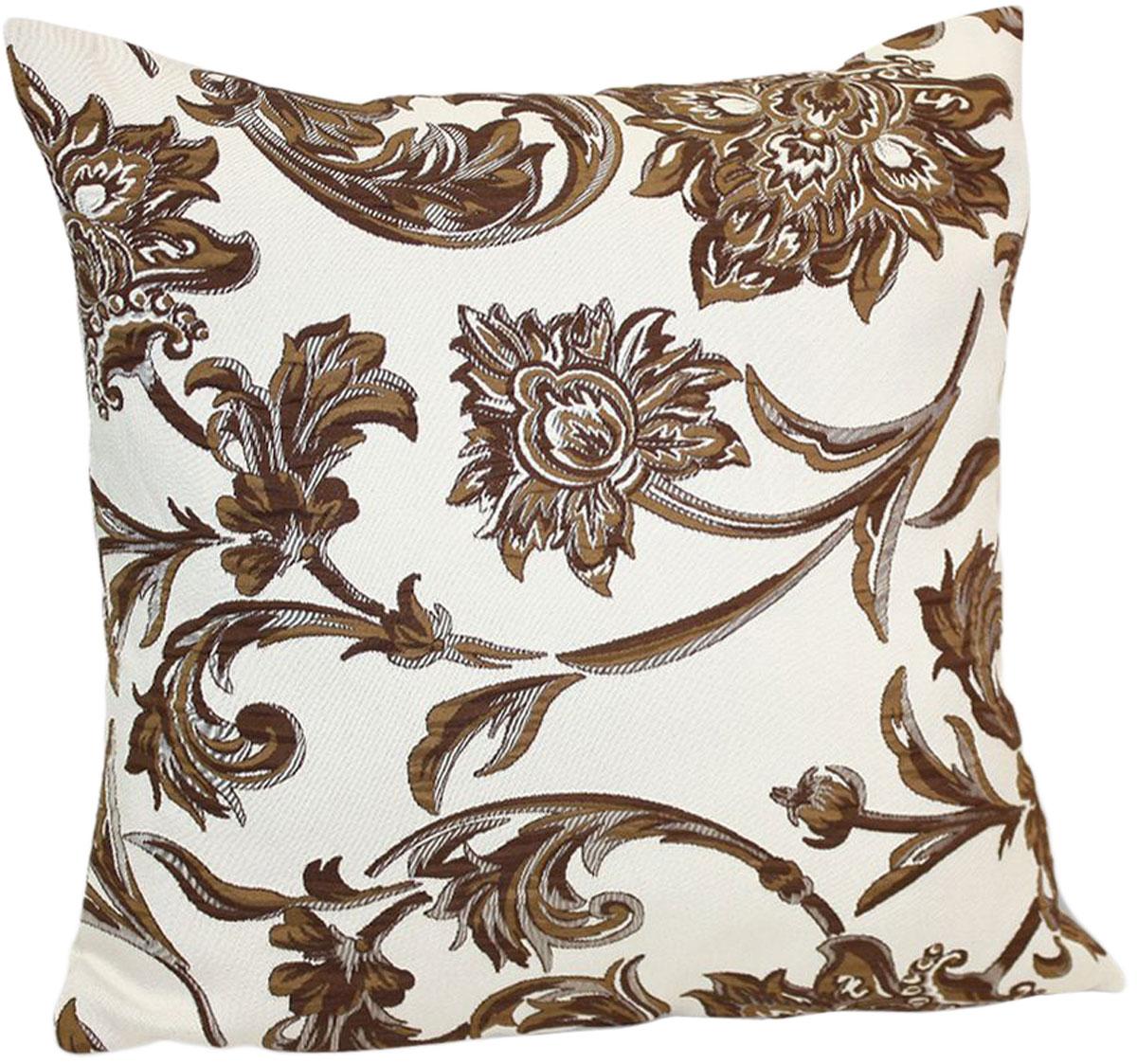 Подушка декоративная KauffOrt Руан, цвет: коричневый, 40 x 40 см