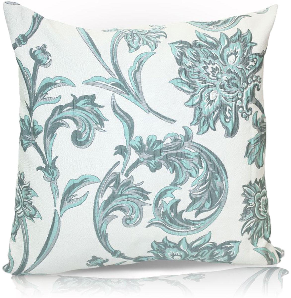 Подушка декоративная KauffOrt Руан, цвет: белый, голубой, 40 x 40 см. 3121040640