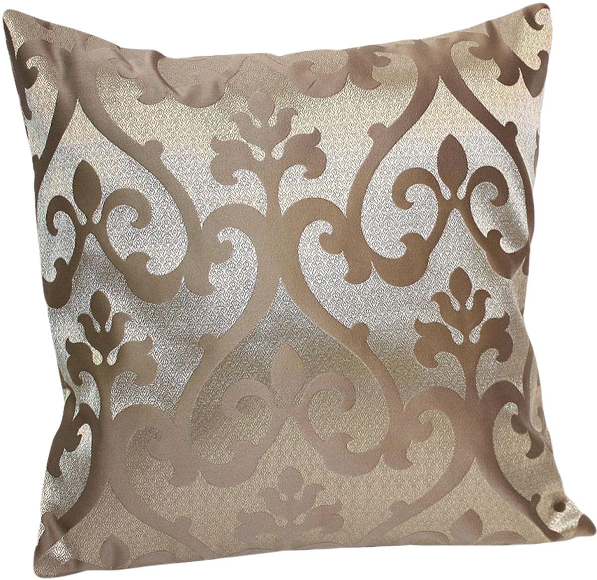 Подушка декоративная KauffOrt Флорентина, цвет: коричневый, 40 x 40 см3121044620Декоративная подушка Флорентина прекрасно дополнит интерьер спальни или гостиной.Чехолподушки выполнен из жаккардовой ткани. Внутри находится мягкий наполнитель. Чехоллегко снимаетсяблагодаря потайной молнии.
