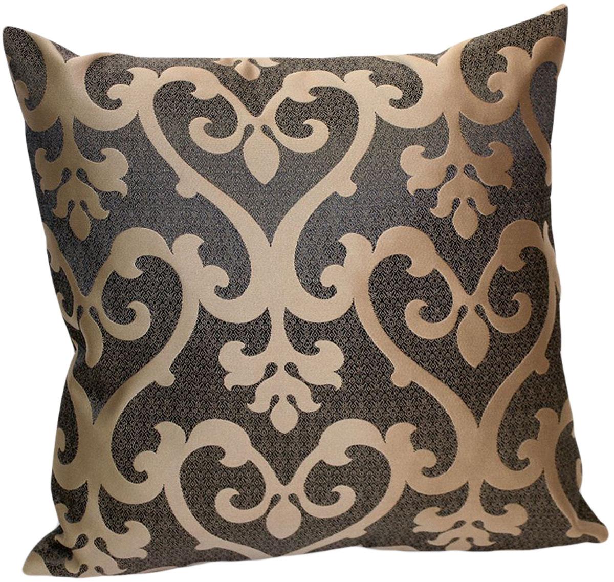 """Декоративная подушка """"Флорентина"""" прекрасно дополнит интерьер спальни или гостиной.  Чехол  подушки выполнен из жаккардовой ткани. Внутри находится мягкий наполнитель. Чехол  легко снимается  благодаря потайной молнии."""