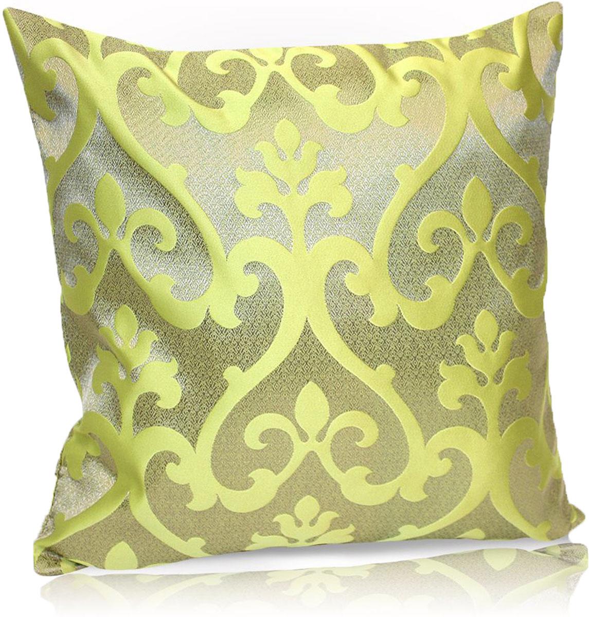 Подушка декоративная KauffOrt Флорентина, цвет: оливковый, 40 x 40 см3121044680Декоративная подушка Флорентина прекрасно дополнит интерьер спальни или гостиной.Чехолподушки выполнен из жаккардовой ткани. Внутри находится мягкий наполнитель. Чехоллегко снимаетсяблагодаря потайной молнии.