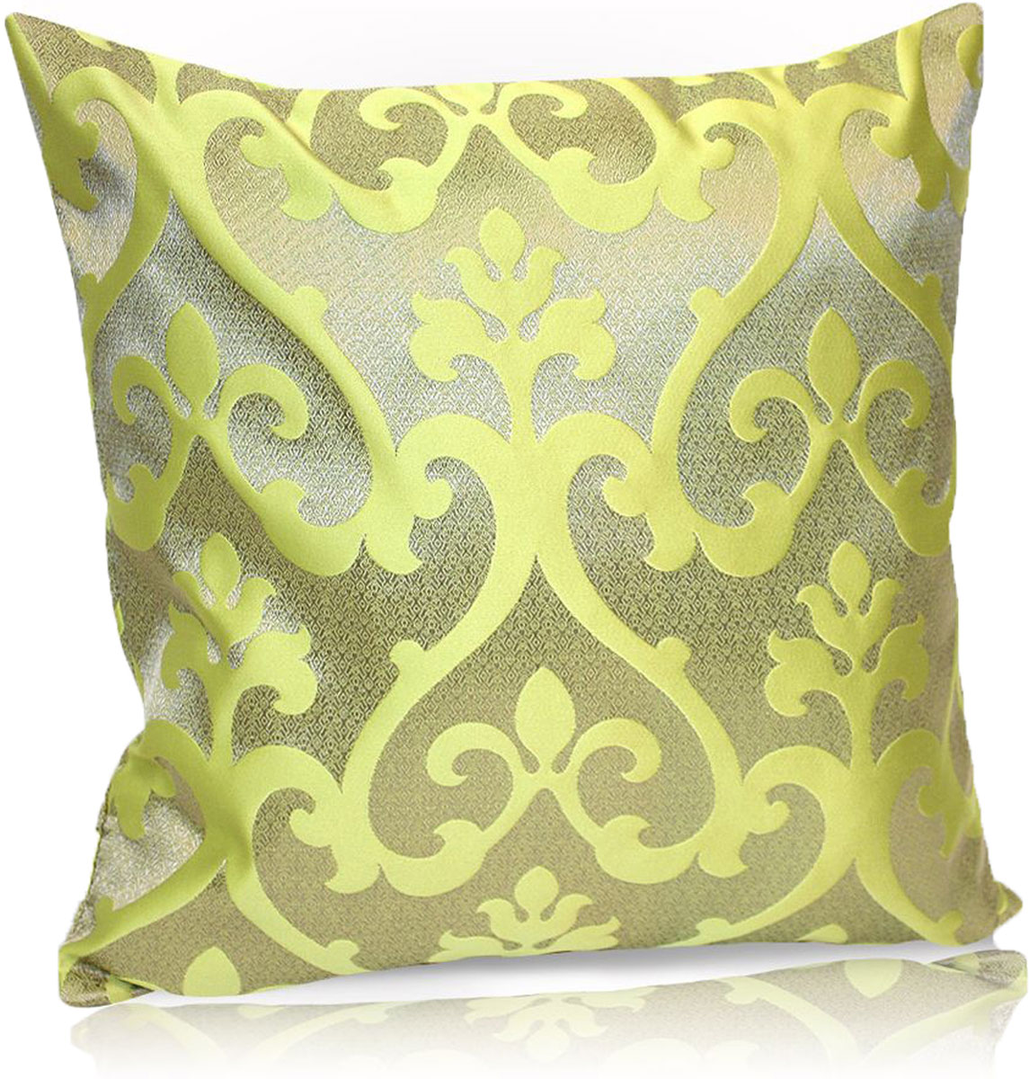 Подушка декоративная KauffOrt Флорентина, цвет: оливковый, 40 x 40 см штора легкая kauffort barolo