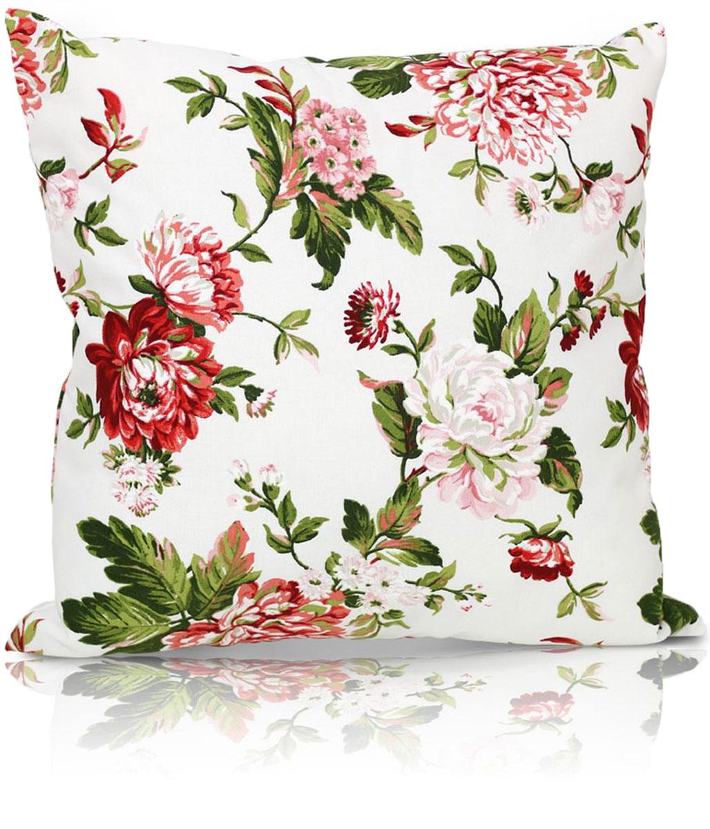 """Декоративная подушка """"Лилу"""" прекрасно дополнит интерьер спальни или гостиной. Чехол  подушки выполнен из 50% хлопка и 50% полиэстера. Внутри находится мягкий наполнитель.  Чехол легко снимается  благодаря потайной молнии."""