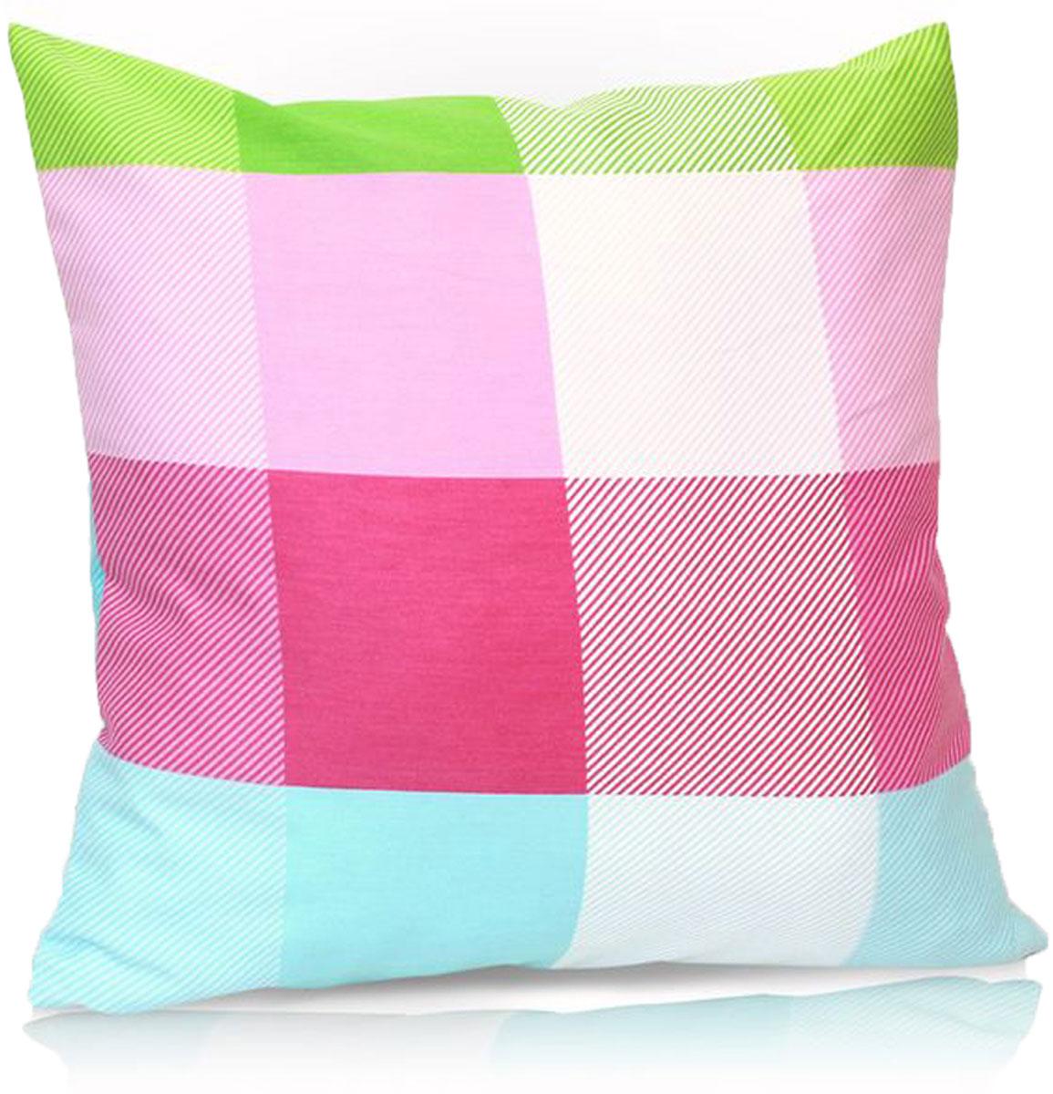 """Декоративная подушка """"KauffOrt """" прекрасно дополнит интерьер спальни или гостиной. Чехол  подушки выполнен из сатина (35% хлопок, 65% полиэстер). Внутри находится мягкий наполнитель.  Чехол легко снимается  благодаря потайной молнии."""