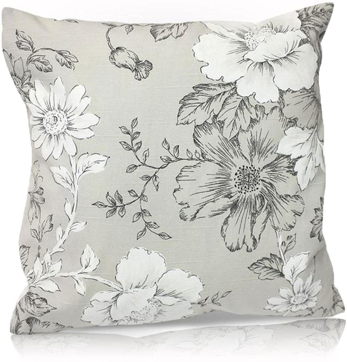 """Декоративная подушка """"KauffOrt """" прекрасно дополнит интерьер спальни или гостиной. Чехол  подушки выполнен из лонеты (55% хлопок, 45% полиэстер). Внутри находится мягкий наполнитель.  Чехол легко снимается  благодаря потайной молнии."""