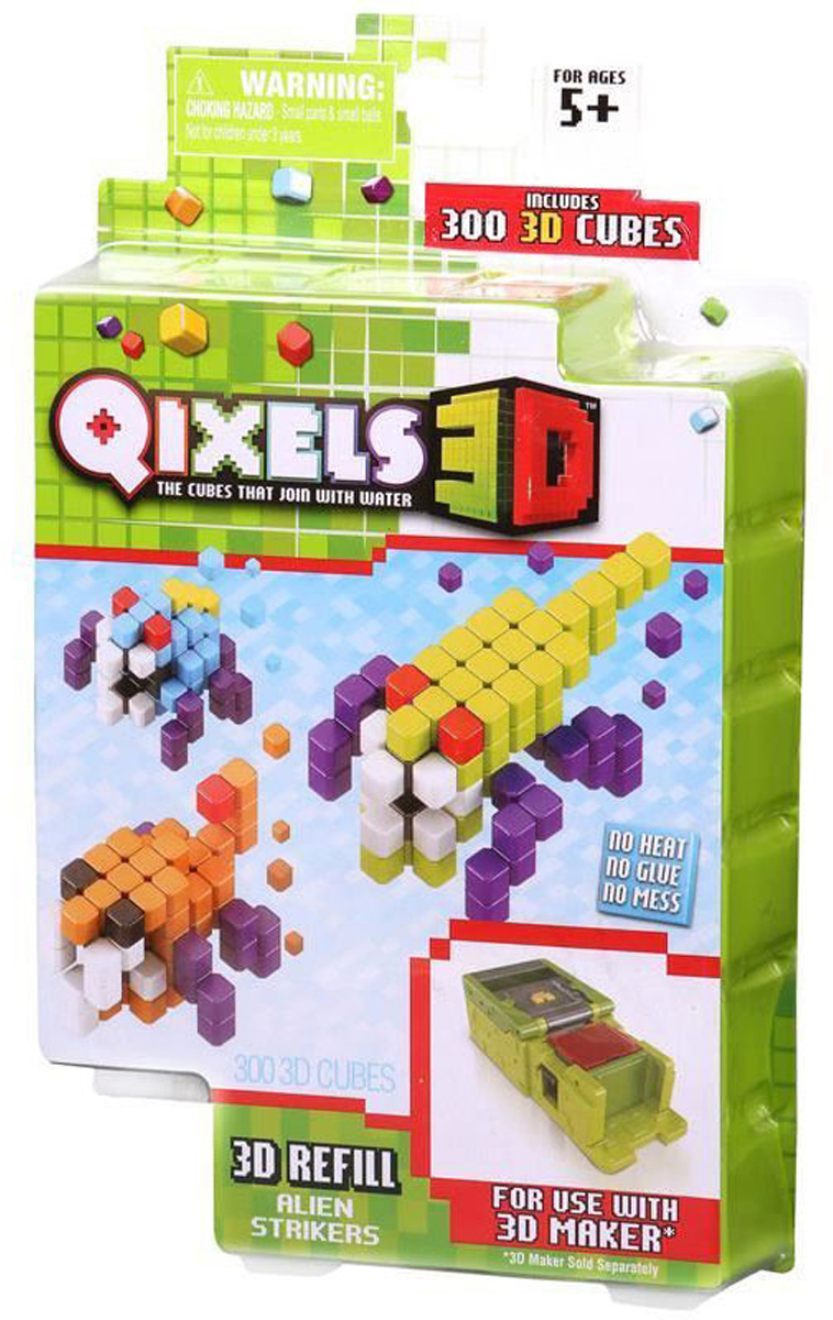 Qixels Дополнительный набор для 3D принтера Alien Strikers набор для творчества qixels машинка для создания 3d фигурок 3d принтер