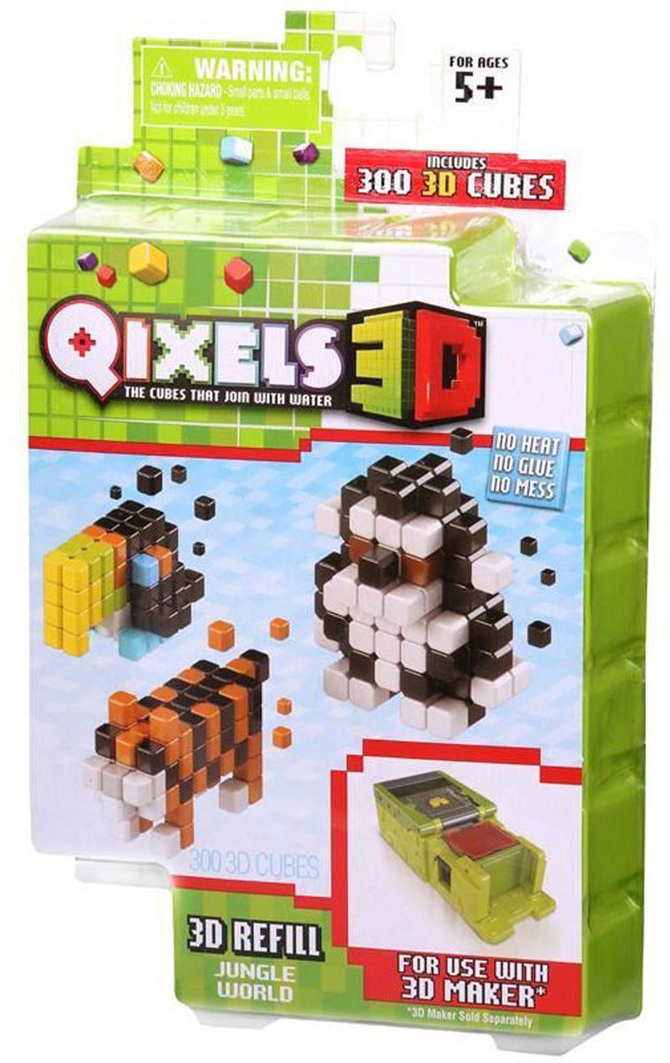 Qixels Дополнительный набор для 3D принтера Jungle World дополнительный набор qixels для 3d принтера в ассортименте