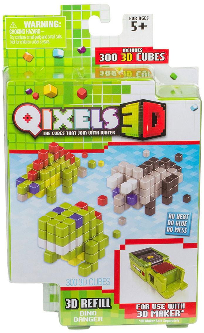 Qixels Дополнительный набор для 3D принтера Dino Danger power rangers фигурка могучие рейнджеры dino charge