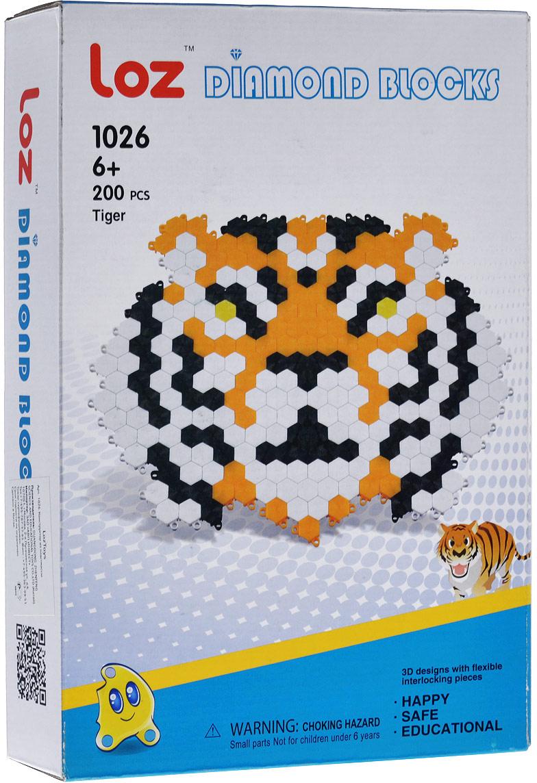 Мозаика Loztoys Тигр, 200 элементов мозаика paulinda мозаика super beads сова 200 элементов