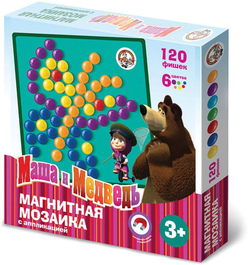 мозаика маша и медведь с аппликациями 105 элементов Магнитная мозаика Десятое королевство Маша и медведь, с аппликацией, 126 элементов