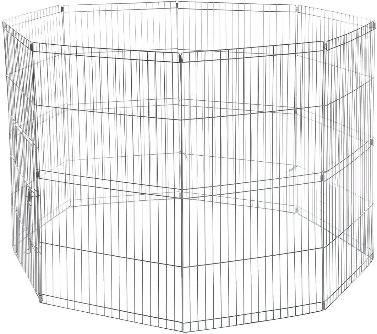 Загон для животных Camon, складной, 8 панелейC174Удобная складная клетка-загон для животных Camon, изготовленная из металла, легко и быстро собирается. Изделие имеет 8 панелей. В сложенном виде такую клетку легко расположить в автомобиле, поезде. Размер 1 секции (Ш х В): 57 х 80 см.