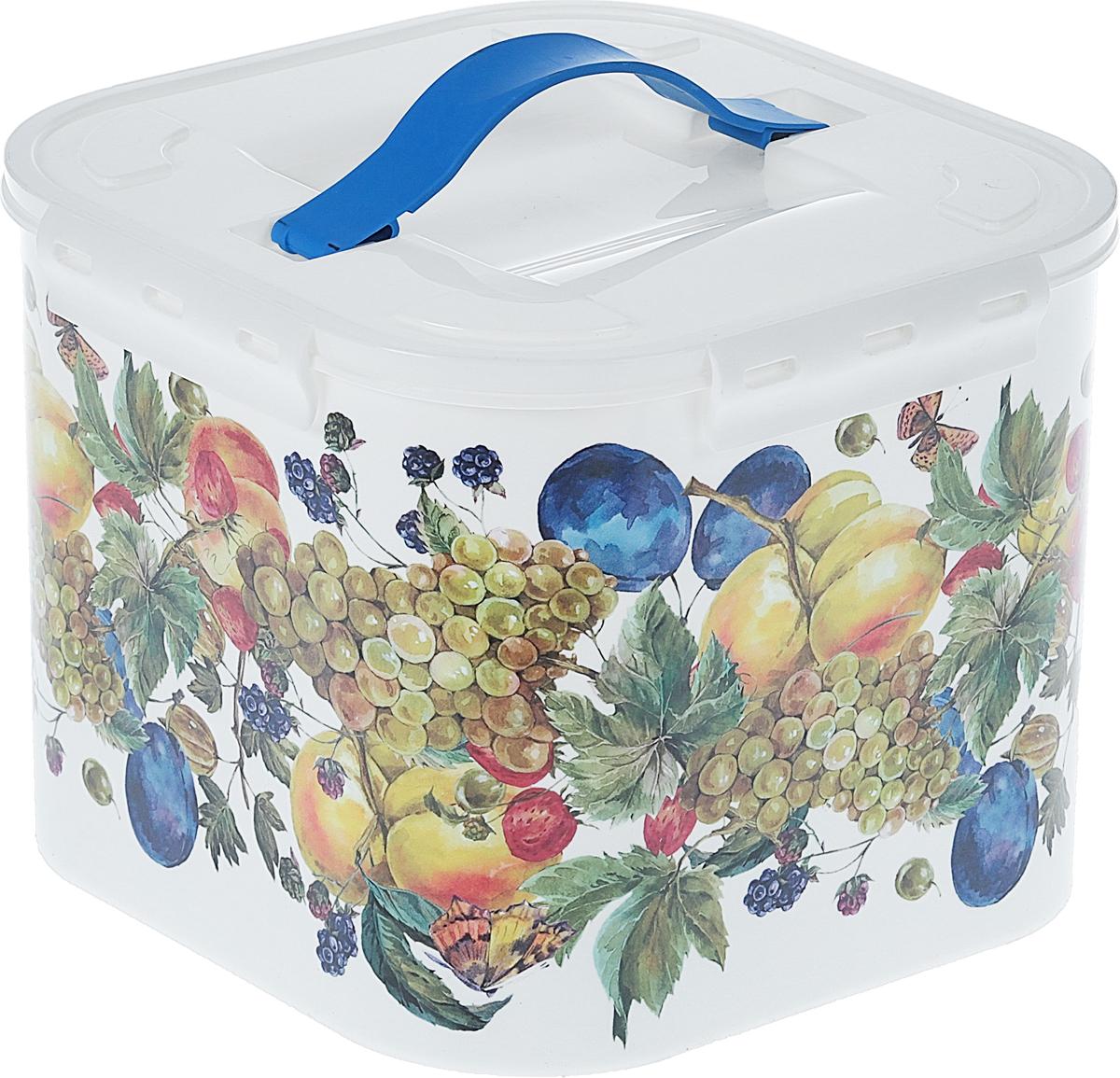 Контейнер для хранения Idea Фрукты, цвет: белый, 7 л контейнер для хранения idea океаник цвет голубой 20 л