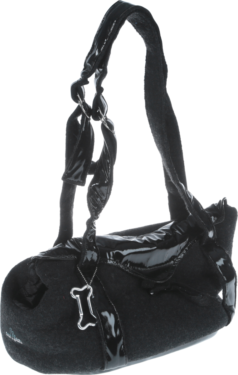 Переноска для животных Camon  Black wool Elegance , цвет: черный, 40 x 20 x 22 см - Переноски, товары для транспортировки
