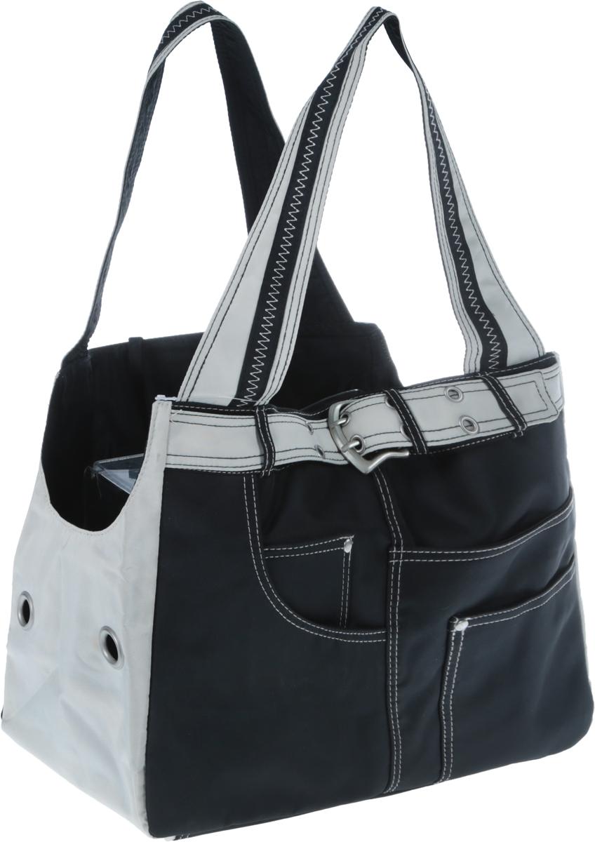 Переноска для животных Camon  Jolly-1 , цвет: черный, светло-серый, 38 x 18 x 28 см - Переноски, товары для транспортировки