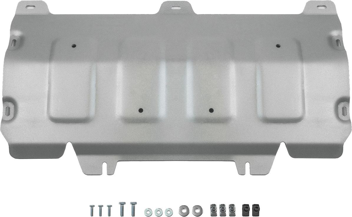 Защита картера Rival, для Audi Q5 2017-н.в., алюминий 4 мм333.0337.1Защита картера для Audi Q5 V - 2.0 АКПП 2017-н.в., алюминий 4 мм, крепеж в комплекте, 333.0337.1Алюминиевые защиты Rival надежно защищают днище вашего автомобиля от повреждений, например при наезде на бордюры, а также выполняют эстетическую функцию при установке на высокие автомобили.- Толщина алюминиевых защит в 2 раза толще стальных, а вес при этом меньше до 30%.- Отлично отводит тепло от двигателя своей поверхностью, что спасает двигатель от перегрева в летний период или при высоких нагрузках.- В отличие от стальных, алюминиевые защиты не поддаются коррозии, что гарантирует срок службы защит более 5 лет.- Покрываются порошковой краской, что надолго сохраняет первоначальный вид новой защиты и защищает от гальванической коррозии.- Глубокий штамп дополнительно усиливает конструкцию защиты.- Подштамповка в местах крепления защищает крепеж от срезания.- Технологические отверстия там, где они необходимы для смены масла и слива воды, оборудованные заглушками, надежно закрепленными на защите.- Помимо основной функции защиты от удара, конструкция так же существенно снижает попадание в моторный отсек влаги и грязи.В комплекте инструкция по установке.Уважаемые клиенты!Обращаем ваше внимание, на тот факт, что защита имеет форму, соответствующую модели данного автомобиля. Наличие глубокого штампа и лючков для смены фильтров/масла предусмотрено не на всех защитах. Фото служит для визуального восприятия товара.
