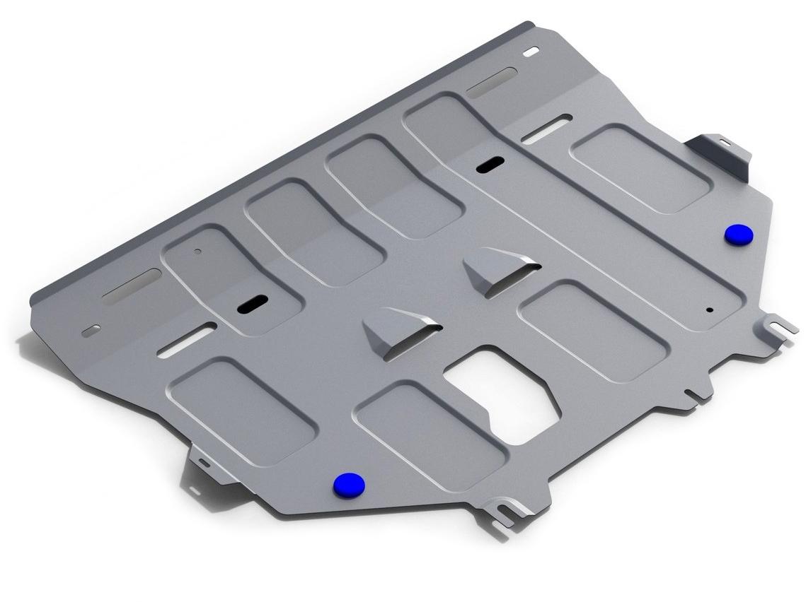 Защита картера и КПП Rival, для Ford Kuga 2013-2016 2016-н.в., алюминий 4 мм333.1860.1Защита картера и КПП для Ford Kuga V - 1.5 Ecoboost;1.6; 2.5 2016-н.в./Ford Kuga V - 1.5 Ecoboost;1.6; 2.5 2013-2016, алюминий 4 мм, крепеж в комплекте, 333.1860.1Алюминиевые защиты Rival надежно защищают днище вашего автомобиля от повреждений, например при наезде на бордюры, а также выполняют эстетическую функцию при установке на высокие автомобили.- Толщина алюминиевых защит в 2 раза толще стальных, а вес при этом меньше до 30%.- Отлично отводит тепло от двигателя своей поверхностью, что спасает двигатель от перегрева в летний период или при высоких нагрузках.- В отличие от стальных, алюминиевые защиты не поддаются коррозии, что гарантирует срок службы защит более 5 лет.- Покрываются порошковой краской, что надолго сохраняет первоначальный вид новой защиты и защищает от гальванической коррозии.- Глубокий штамп дополнительно усиливает конструкцию защиты.- Подштамповка в местах крепления защищает крепеж от срезания.- Технологические отверстия там, где они необходимы для смены масла и слива воды, оборудованные заглушками, надежно закрепленными на защите.- Помимо основной функции защиты от удара, конструкция так же существенно снижает попадание в моторный отсек влаги и грязи.В комплекте инструкция по установке.Уважаемые клиенты!Обращаем ваше внимание, на тот факт, что защита имеет форму, соответствующую модели данного автомобиля. Наличие глубокого штампа и лючков для смены фильтров/масла предусмотрено не на всех защитах. Фото служит для визуального восприятия товара.