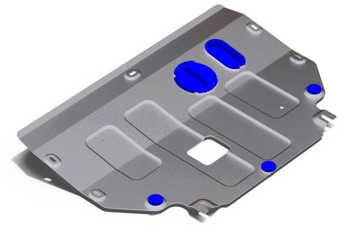 Защита картера и КПП Rival, для Kia Picanto 2017-н.в., алюминий 4 мм333.2840.1Защита картера и КПП для Kia Picanto V - 1.2 2017-н.в., алюминий 4 мм, крепеж в комплекте, 333.2840.1Алюминиевые защиты Rival надежно защищают днище вашего автомобиля от повреждений, например при наезде на бордюры, а также выполняют эстетическую функцию при установке на высокие автомобили.- Толщина алюминиевых защит в 2 раза толще стальных, а вес при этом меньше до 30%.- Отлично отводит тепло от двигателя своей поверхностью, что спасает двигатель от перегрева в летний период или при высоких нагрузках.- В отличие от стальных, алюминиевые защиты не поддаются коррозии, что гарантирует срок службы защит более 5 лет.- Покрываются порошковой краской, что надолго сохраняет первоначальный вид новой защиты и защищает от гальванической коррозии.- Глубокий штамп дополнительно усиливает конструкцию защиты.- Подштамповка в местах крепления защищает крепеж от срезания.- Технологические отверстия там, где они необходимы для смены масла и слива воды, оборудованные заглушками, надежно закрепленными на защите.- Помимо основной функции защиты от удара, конструкция так же существенно снижает попадание в моторный отсек влаги и грязи.В комплекте инструкция по установке.Уважаемые клиенты!Обращаем ваше внимание, на тот факт, что защита имеет форму, соответствующую модели данного автомобиля. Наличие глубокого штампа и лючков для смены фильтров/масла предусмотрено не на всех защитах. Фото служит для визуального восприятия товара.