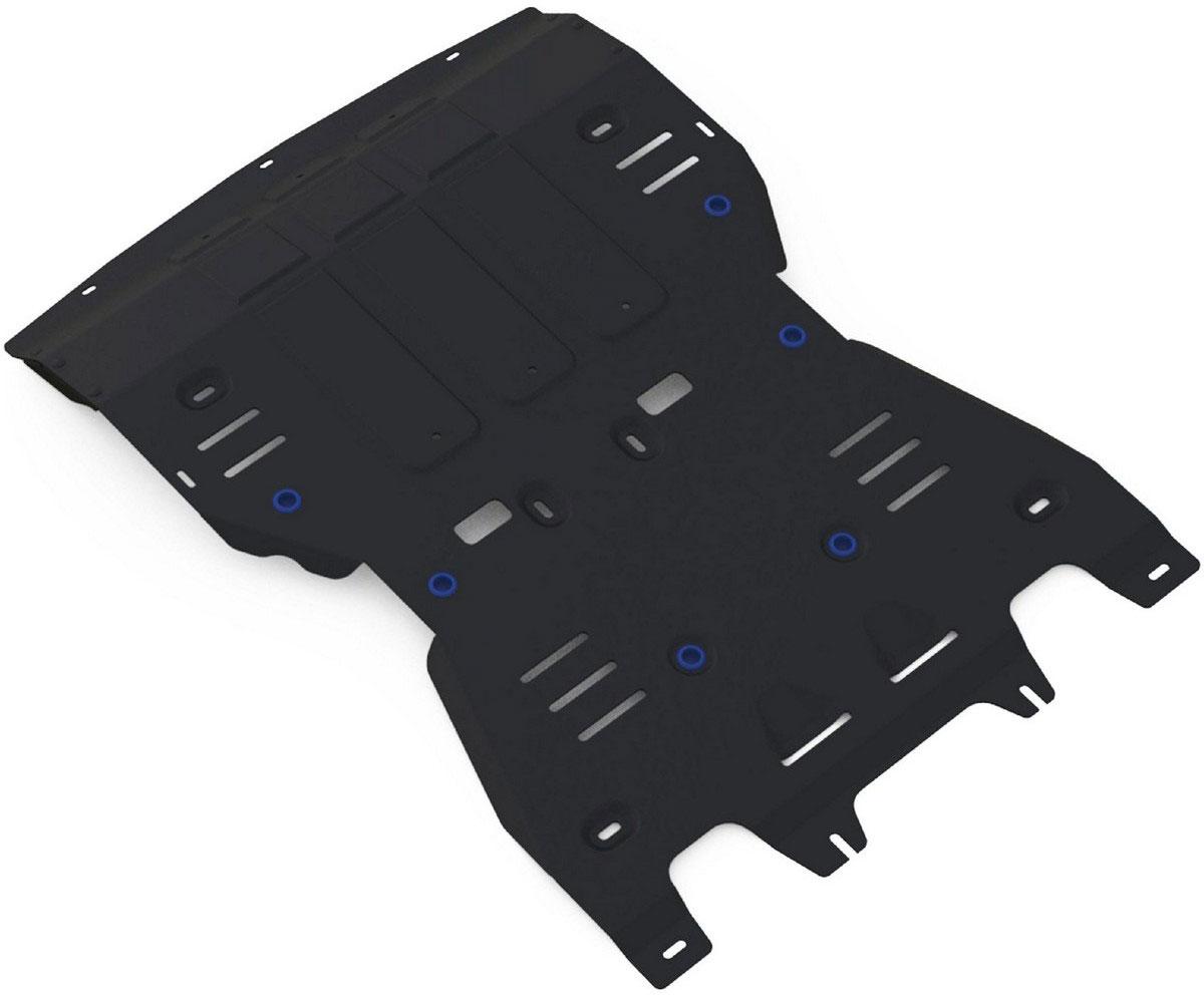 Защита картера и КПП Rival, для Porsche Macan 2014-н.в., алюминий, цвет: черный 4 мм333.4605.2Защита картера и КПП (черная) для Porsche Macan V - 3.0; 3.6; 3.0d 2014-н.в., алюминий 4 мм, крепеж в комплекте, 333.4605.2Алюминиевые защиты Rival надежно защищают днище вашего автомобиля от повреждений, например при наезде на бордюры, а также выполняют эстетическую функцию при установке на высокие автомобили.- Толщина алюминиевых защит в 2 раза толще стальных, а вес при этом меньше до 30%.- Отлично отводит тепло от двигателя своей поверхностью, что спасает двигатель от перегрева в летний период или при высоких нагрузках.- В отличие от стальных, алюминиевые защиты не поддаются коррозии, что гарантирует срок службы защит более 5 лет.- Покрываются порошковой краской, что надолго сохраняет первоначальный вид новой защиты и защищает от гальванической коррозии.- Глубокий штамп дополнительно усиливает конструкцию защиты.- Подштамповка в местах крепления защищает крепеж от срезания.- Технологические отверстия там, где они необходимы для смены масла и слива воды, оборудованные заглушками, надежно закрепленными на защите.- Помимо основной функции защиты от удара, конструкция так же существенно снижает попадание в моторный отсек влаги и грязи.В комплекте инструкция по установке.Уважаемые клиенты!Обращаем ваше внимание, на тот факт, что защита имеет форму, соответствующую модели данного автомобиля. Наличие глубокого штампа и лючков для смены фильтров/масла предусмотрено не на всех защитах. Фото служит для визуального восприятия товара.