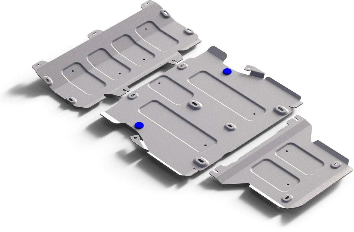 Защита картера, КПП и РК (3 части)  Rival , для Audi Q5 2017-н.в., алюминий 4 мм - Тюнинг и защита - Защита внешних частей