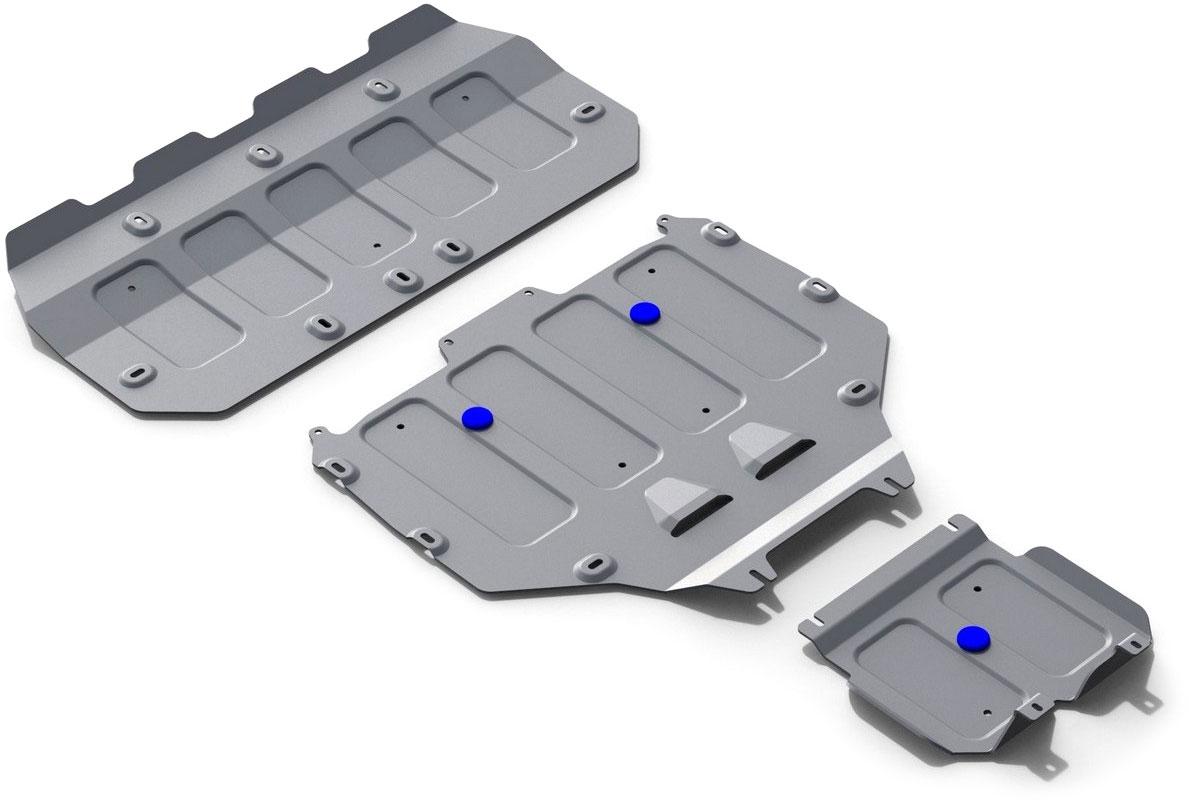 Защита картера, КПП, РК Rival, для Bentley Bentayga 2016-н.в., алюминий 4 ммK333.0401.1Защита картера, КПП, РК для Bentley Bentayga V - 6.0 (608 л.с.) 2016-н.в., алюминий 4 мм, крепеж в комплекте, K333.0401.1Алюминиевые защиты Rival надежно защищают днище вашего автомобиля от повреждений, например при наезде на бордюры, а также выполняют эстетическую функцию при установке на высокие автомобили.- Толщина алюминиевых защит в 2 раза толще стальных, а вес при этом меньше до 30%.- Отлично отводит тепло от двигателя своей поверхностью, что спасает двигатель от перегрева в летний период или при высоких нагрузках.- В отличие от стальных, алюминиевые защиты не поддаются коррозии, что гарантирует срок службы защит более 5 лет.- Покрываются порошковой краской, что надолго сохраняет первоначальный вид новой защиты и защищает от гальванической коррозии.- Глубокий штамп дополнительно усиливает конструкцию защиты.- Подштамповка в местах крепления защищает крепеж от срезания.- Технологические отверстия там, где они необходимы для смены масла и слива воды, оборудованные заглушками, надежно закрепленными на защите.- Помимо основной функции защиты от удара, конструкция так же существенно снижает попадание в моторный отсек влаги и грязи.В комплекте инструкция по установке.Уважаемые клиенты!Обращаем ваше внимание, на тот факт, что защита имеет форму, соответствующую модели данного автомобиля. Наличие глубокого штампа и лючков для смены фильтров/масла предусмотрено не на всех защитах. Фото служит для визуального восприятия товара.
