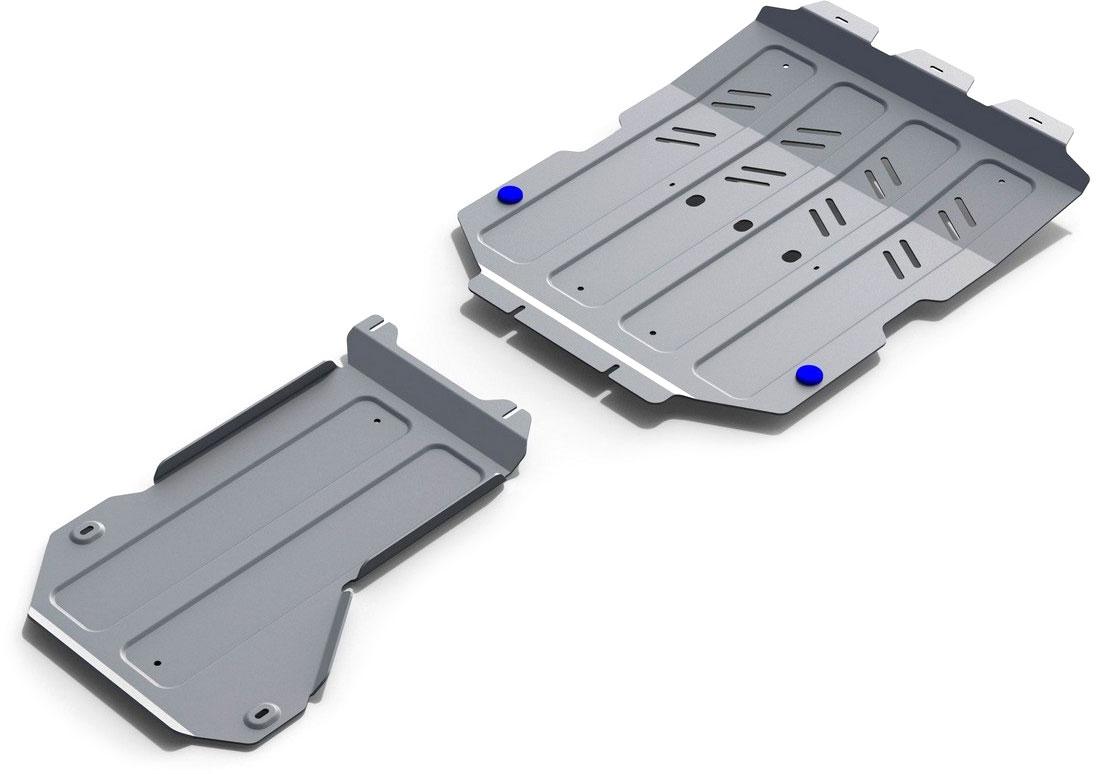 Защита картера, КПП, РК (2 части) Rival, для Maserati Levante 2016-н.в., алюминий 4 ммK333.3601.1Защита картера, КПП, РК (2 части) для Maserati Levante V - 3.0 (350л.с); 3.0 (430л.с); 3.0d (275л.с) 2016-н.в., алюминий 4 мм, крепеж в комплекте, K333.3601.1Алюминиевые защиты Rival надежно защищают днище вашего автомобиля от повреждений, например при наезде на бордюры, а также выполняют эстетическую функцию при установке на высокие автомобили.- Толщина алюминиевых защит в 2 раза толще стальных, а вес при этом меньше до 30%.- Отлично отводит тепло от двигателя своей поверхностью, что спасает двигатель от перегрева в летний период или при высоких нагрузках.- В отличие от стальных, алюминиевые защиты не поддаются коррозии, что гарантирует срок службы защит более 5 лет.- Покрываются порошковой краской, что надолго сохраняет первоначальный вид новой защиты и защищает от гальванической коррозии.- Глубокий штамп дополнительно усиливает конструкцию защиты.- Подштамповка в местах крепления защищает крепеж от срезания.- Технологические отверстия там, где они необходимы для смены масла и слива воды, оборудованные заглушками, надежно закрепленными на защите.- Помимо основной функции защиты от удара, конструкция так же существенно снижает попадание в моторный отсек влаги и грязи.В комплекте инструкция по установке.Уважаемые клиенты!Обращаем ваше внимание, на тот факт, что защита имеет форму, соответствующую модели данного автомобиля. Наличие глубокого штампа и лючков для смены фильтров/масла предусмотрено не на всех защитах. Фото служит для визуального восприятия товара.