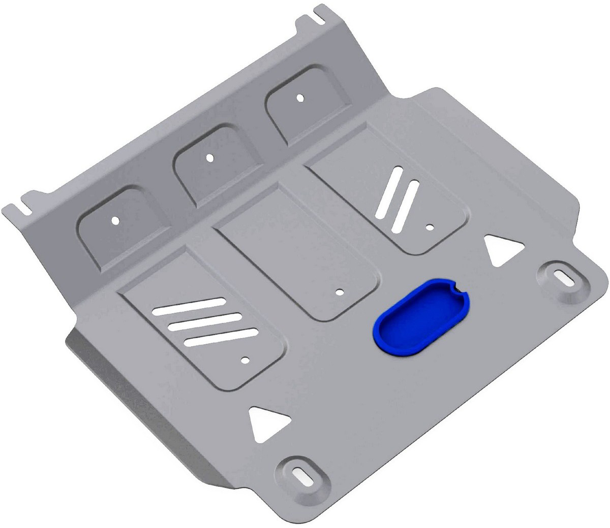 Защита картера Rival, для Mitsubishi L200 2006-2015/Mitsubishi Pajero Sport 2008-2016, алюминий 6 мм333.4033.1/6Защита картера для Mitsubishi L200 V - все 2006-2015/Mitsubishi Pajero Sport V - все 2008-2016, алюминий 6 мм, крепеж в комплекте, 333.4033.1/6Алюминиевые защиты Rival надежно защищают днище вашего автомобиля от повреждений, например при наезде на бордюры, а также выполняют эстетическую функцию при установке на высокие автомобили.- Толщина алюминиевых защит в 2 раза толще стальных, а вес при этом меньше до 30%.- Отлично отводит тепло от двигателя своей поверхностью, что спасает двигатель от перегрева в летний период или при высоких нагрузках.- В отличие от стальных, алюминиевые защиты не поддаются коррозии, что гарантирует срок службы защит более 5 лет.- Покрываются порошковой краской, что надолго сохраняет первоначальный вид новой защиты и защищает от гальванической коррозии.- Глубокий штамп дополнительно усиливает конструкцию защиты.- Подштамповка в местах крепления защищает крепеж от срезания.- Технологические отверстия там, где они необходимы для смены масла и слива воды, оборудованные заглушками, надежно закрепленными на защите.- Помимо основной функции защиты от удара, конструкция так же существенно снижает попадание в моторный отсек влаги и грязи.В комплекте инструкция по установке.Уважаемые клиенты!Обращаем ваше внимание, на тот факт, что защита имеет форму, соответствующую модели данного автомобиля. Наличие глубокого штампа и лючков для смены фильтров/масла предусмотрено не на всех защитах. Фото служит для визуального восприятия товара.