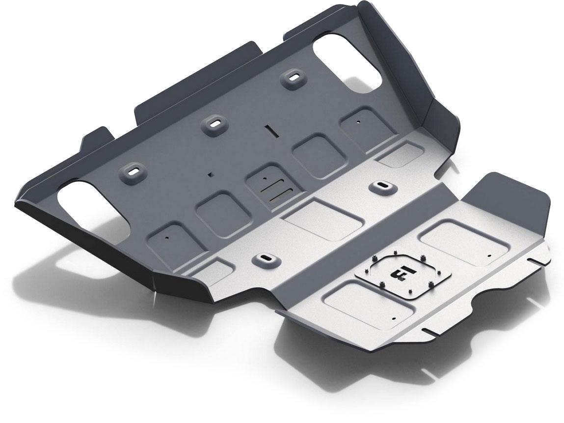Защита радиатора и картера Rival, для Toyota Hilux 2007-2015, алюминий 6 мм333.5790.1/6Защита радиатора и картера для Toyota Hilux V - 2.5d; 3.0d 2007-2015, алюминий 6 мм, крепеж в комплекте, 333.5790.1/6Алюминиевые защиты Rival надежно защищают днище вашего автомобиля от повреждений, например при наезде на бордюры, а также выполняют эстетическую функцию при установке на высокие автомобили.- Толщина алюминиевых защит в 2 раза толще стальных, а вес при этом меньше до 30%.- Отлично отводит тепло от двигателя своей поверхностью, что спасает двигатель от перегрева в летний период или при высоких нагрузках.- В отличие от стальных, алюминиевые защиты не поддаются коррозии, что гарантирует срок службы защит более 5 лет.- Покрываются порошковой краской, что надолго сохраняет первоначальный вид новой защиты и защищает от гальванической коррозии.- Глубокий штамп дополнительно усиливает конструкцию защиты.- Подштамповка в местах крепления защищает крепеж от срезания.- Технологические отверстия там, где они необходимы для смены масла и слива воды, оборудованные заглушками, надежно закрепленными на защите.- Помимо основной функции защиты от удара, конструкция так же существенно снижает попадание в моторный отсек влаги и грязи.В комплекте инструкция по установке.Уважаемые клиенты!Обращаем ваше внимание, на тот факт, что защита имеет форму, соответствующую модели данного автомобиля. Наличие глубокого штампа и лючков для смены фильтров/масла предусмотрено не на всех защитах. Фото служит для визуального восприятия товара.