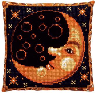 "Набор для вышивания подушки Pako ""Луна"", 40 см х 40 см"