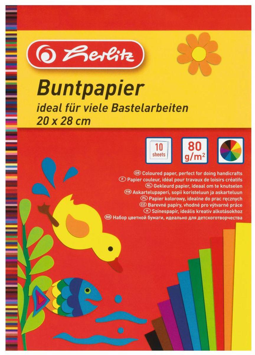Herlitz Набор цветной бумаги Buntpapier10668085Цветная бумага от Herlitz - это тонкая и гладкая бумага для детского творчества. Бумага сформирована в виде блокнота и насыщена яркими цветами. Работа с цветной бумагой от Herlitz благотворно влияет на развитие мышления, воображения и мелкой моторики рук.