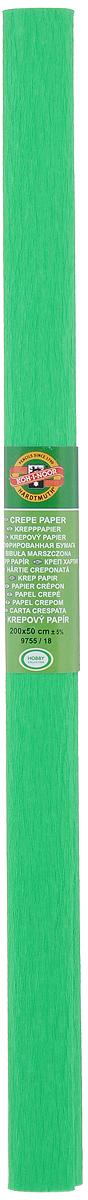 Бумага гофрированная Koh-I-Noor, цвет: зеленый, 50 см x 2 м7701656_18Гофрированная бумага Koh-I-Noor - прекрасный материал для декорирования, изготовления эффектной упаковки и различных поделок. Бумага прекрасно держит форму, не пачкает руки, отлично крепится и замечательно подходит для изготовления праздничной упаковки для цветов.
