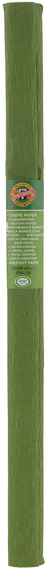 Бумага гофрированная Koh-I-Noor, цвет: оливковый, 50 см x 2 м9755/20 оливк.Гофрированная бумага Koh-I-Noor - прекрасный материал для декорирования, изготовления эффектной упаковки и различных поделок. Бумага прекрасно держит форму, не пачкает руки, отлично крепится и замечательно подходит для изготовления праздничной упаковки для цветов.