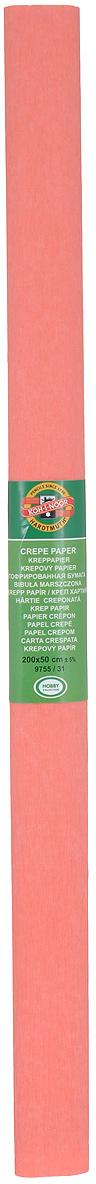 Бумага гофрированная Koh-I-Noor, цвет: коралловый, 50 см x 2 м9755/31Гофрированная бумага Koh-I-Noor - прекрасный материал для декорирования, изготовления эффектной упаковки и различных поделок. Бумага прекрасно держит форму, не пачкает руки, отлично крепится и замечательно подходит для изготовления праздничной упаковки для цветов.