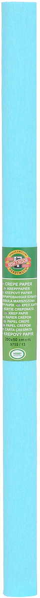 Бумага крепированная Koh-I-Noor, цвет: светло-бирюзовый, 50 см x 2 мKCO-30-658370Крепированная бумага Koh-I-Noor - прекрасный материал для декорирования, изготовления эффектной упаковки и различных поделок. Бумага прекрасно держит форму, не пачкает руки, отлично крепится и замечательно подходит для изготовления праздничной упаковки для цветов.