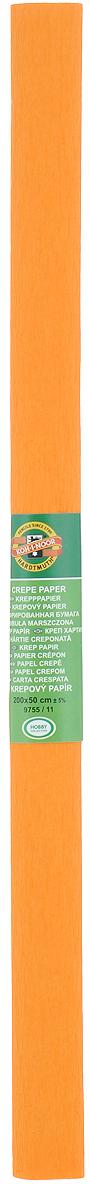 Бумага гофрированная Koh-I-Noor, цвет: светло-оранжевый, 50 см x 2 мSCB510201Гофрированная бумага Koh-I-Noor - прекрасный материал для декорирования, изготовления эффектной упаковки и различных поделок. Бумага прекрасно держит форму, не пачкает руки, отлично крепится и замечательно подходит для изготовления праздничной упаковки для цветов.