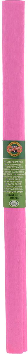 Бумага гофрированная Koh-I-Noor, цвет: светло-розовый, 50 см x 2 м9755/03 св.роз.Гофрированная бумага Koh-I-Noor - прекрасный материал для декорирования, изготовления эффектной упаковки и различных поделок. Бумага прекрасно держит форму, не пачкает руки, отлично крепится и замечательно подходит для изготовления праздничной упаковки для цветов.