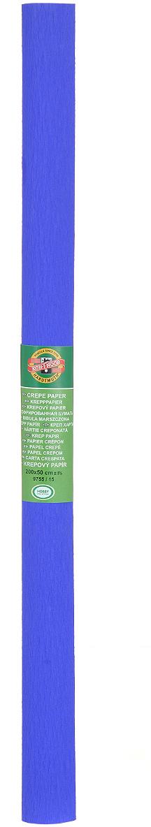 Бумага крепированная Koh-I-Noor, цвет: синий, 50 см x 2 м9755/15Крепированная бумага Koh-I-Noor - прекрасный материал для декорирования, изготовления эффектной упаковки и различных поделок. Бумага прекрасно держит форму, не пачкает руки, отлично крепится и замечательно подходит для изготовления праздничной упаковки для цветов.