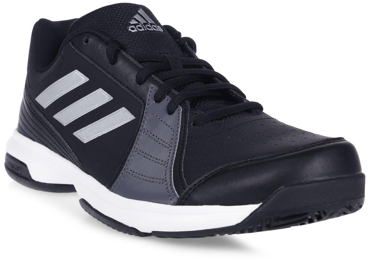 Кроссовки для тенниса мужские Adidas Approach, цвет: черный. BY1602. Размер 9 (42)BY1602Отрабатывай подачи с задней линии в этих легких теннисных кроссовках Adidas Approach. Мягкий и прочный верх с перфорацией усиливает циркуляцию воздуха. Износостойкая подошва ADIWEAR обладает повышенной прочностью и выдерживает ежедневные тренировки. Классическая шнуровка надежно фиксирует обувь на ноге. Резиновая подошва с рельефным протектором обеспечивает отличное сцепление с поверхностью.