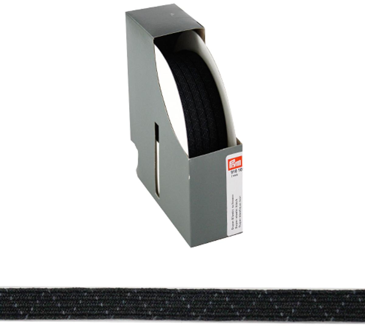 910109 Супер эластичная лента плетеная 7 мм*50м, черный цв. Prym693522