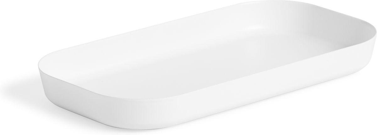 Органайзер для мелочей Umbra Vana, цвет: белый, 10,8 х 25,4 х 3,2 см024002-660Во всём должен быть порядок! Лаконичный небольшой поднос из литого меламина для разных мелочей в ванной. Сложите в него кольца и браслеты, когда моете руки, поставьте лак для ногтей или тюбики с блеском для губ и тушью, чтобы они не скатывались на пол. Прекрасно впишется в любой интерьер. Дизайнер Umbra Studio.