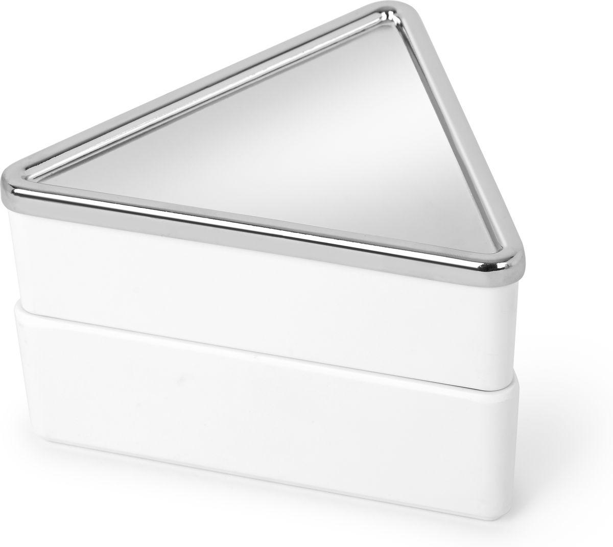 Фото - Шкатулка для украшений Umbra Trinity, цвет: белый, 13,9 х 13,9 х 8,9 см umbra шкатулка для украшений stowit