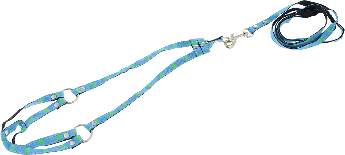 Комплект для животных GLG: шлейка, поводок, цвет: голубой. AM827-2-XXSAM827-2-XXS-BКомплект для кошек GLG включает в себя два предмета - шлейку и поводок, выполненные из нейлона. Шлейка снабжена пластиковыми застежками-фастекс и регуляторами длины. Поводок крепится к шлейке с помощью металлического карабина. Правильно подобранная шлейка не стесняет движения питомца, не натирает кожу, поэтому животное чувствует себя в ней уверенно и комфортно.Размер: XXS.Ширина ленты шлейки: 1 см Длина поводка: 1,2 м
