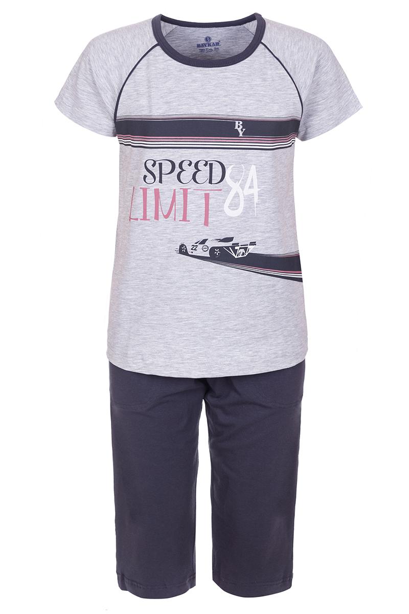 Пижама для мальчика Baykar, цвет: серый. N9616220. Размер 128/134N9616220Пижама для мальчика Baykar включает в себя футболку с коротким рукавом и шорты. Пижама изготовлена из эластичного хлопка. Футболка с рукавами-реглан и круглым вырезом горловины оформлена принтом в полоску и дополнена изображением. Прямые шорты с широкой эластичной резинкой на поясе дополнены двумя втачными карманами и имеют комфортные эластичные швы.