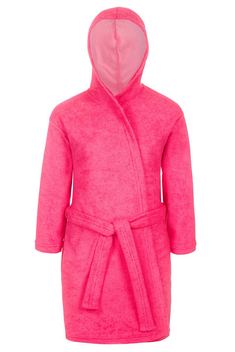 Халат для девочки M&D, цвет: розовый. Х75505. Размер 134Х75505