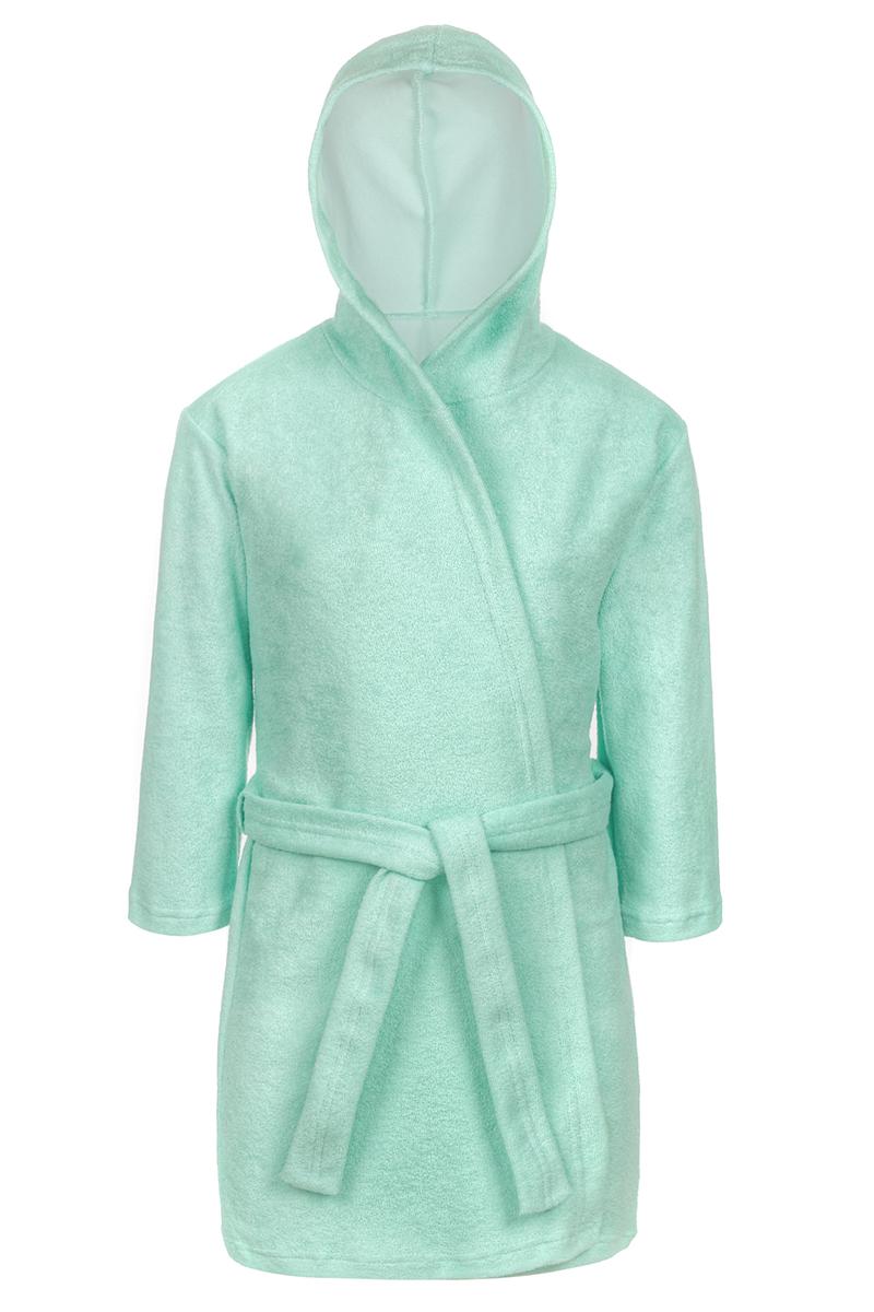 Халат для мальчика M&D, цвет: светло-зеленый. Х75587. Размер 140Х75587