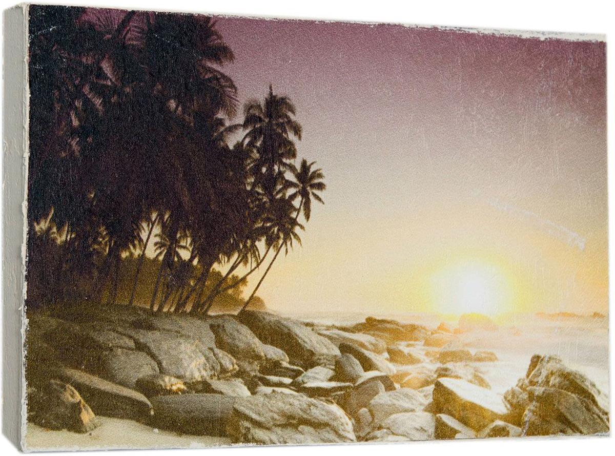Картина Mister Poster Пляж на закате солнца, 22 х 14,5 см0236-15-22Картина Mister Poster - это высококачественная репродукция на деревянной раме. Лицевая поверхность имитирует штукатурку или натуральный холст, края окрашены вручную специальным декоративным составом.Современные технологии, уникальное оборудование и оригинальные чернила, используемые при изготовлении, делают постер устойчивым к выцветанию, а также гарантируют стойкость к воздействию негативных внешних факторов. Интерьер дома и офиса, в котором находится человек, в значительной степени влияет на его настроение и работоспособность. Правильное оформление интерьера создает благоприятный психологический климат, улучшает настроение и мотивирует. Добавьте «красок» в ваш интерьер и, возможно, в вашу жизнь.
